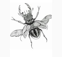Dotwork Flying Beetle Illustration  Womens Fitted T-Shirt