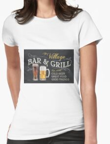 Bar and Grill Womens Fitted T-Shirt