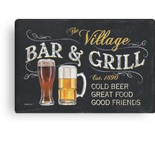 Bar and Grill Canvas Print