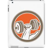 Hand Lifting Dumbbell Circle Retro iPad Case/Skin