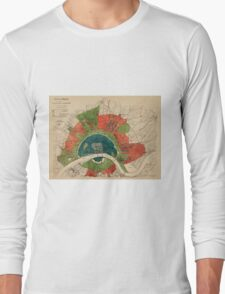 Map Of Cologne 1905 Long Sleeve T-Shirt