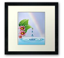 Water droplets (6396  Views) Framed Print