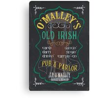 O'Malley's Irish Pub Canvas Print