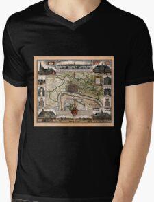 Map Of Antwerp 1624 Mens V-Neck T-Shirt