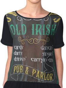 O'Malley's Irish Pub Chiffon Top