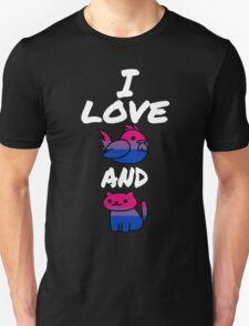 I Love Cock and Pussy-Bisexual Pride Unisex T-Shirt