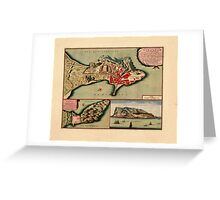 Map Of Gibraltar 1706 Greeting Card