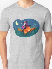 Happy Witch w/Kitty Unisex T-Shirt