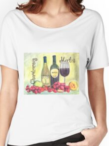 Watercolor Wine Women's Relaxed Fit T-Shirt