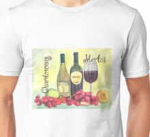 Watercolor Wine Unisex T-Shirt
