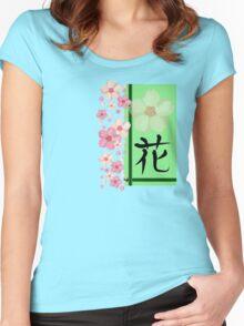 Hana - Kanji Series Women's Fitted Scoop T-Shirt