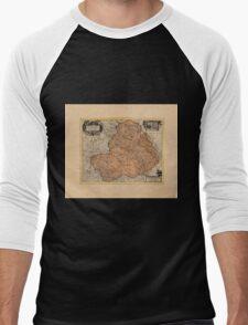 Map Of Rheims 1636 Men's Baseball ¾ T-Shirt