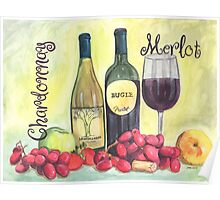 Watercolor Wine Poster
