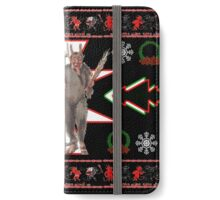 Krampus Ugly Christmas Sweater iPhone Wallet/Case/Skin