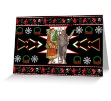 Krampus Ugly Christmas Sweater Greeting Card