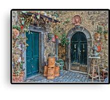 Bolsena Potter Shop   Italy Canvas Print