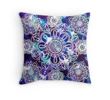 Mandala blue pattern  Throw Pillow