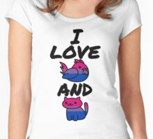 I Love Cock and Pussy-Bisexual Pride Women's Fitted Scoop T-Shirt