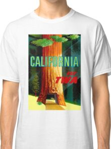 """TWA AIRLINES"" Fly to California Advertising Print Classic T-Shirt"