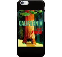 """TWA AIRLINES"" Fly to California Advertising Print iPhone Case/Skin"