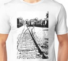 """""""train cars"""" abstract iPhoneography Unisex T-Shirt"""