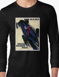 1935 Czech Grand Prix Racing Poster Long Sleeve T-Shirt