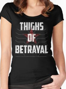 Thighs of Betrayal- The Winter Soldier Women's Fitted Scoop T-Shirt