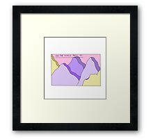 Oh, the places you'll go Framed Print