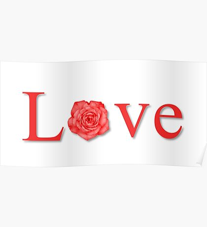 Love Flower Red Poster