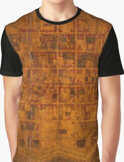 Map Of Montevideo 1807 Graphic T-Shirt