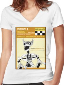 Crow T. Robot Owners Manual  Women's Fitted V-Neck T-Shirt