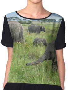 Elephants! Chiffon Top