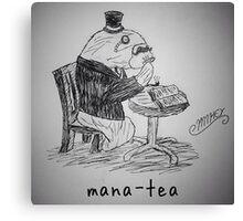 "PUN COMIC - ""MANA-TEA"" Canvas Print"
