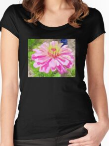 Pink Zinnia Women's Fitted Scoop T-Shirt