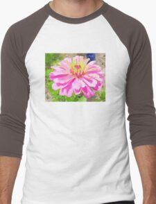 Pink Zinnia Men's Baseball ¾ T-Shirt