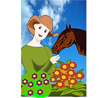 Love for Horses (3333 Views) Photographic Print