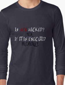 Wicked sex no. 2 Long Sleeve T-Shirt
