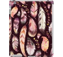 Boho Feather & Floral Pattern iPad Case/Skin