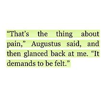 The Fault in Our Stars Green Pain Quote by rbx11