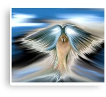 sunset angel dove Canvas Print