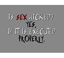 Wicked sex no. 2 Photographic Print