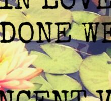 What is Done in Love - Van Gogh Sticker