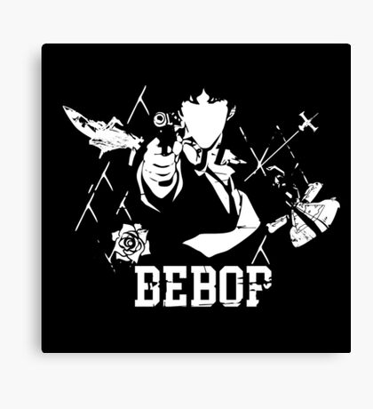 Cowboy Bebop - A Space Symphony WHITE Canvas Print