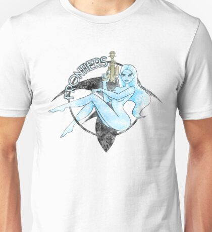 Jil Frontiers pin-up - distressed (for light background) Unisex T-Shirt
