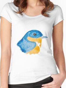 Bluebird Watercolor Women's Fitted Scoop T-Shirt