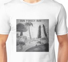 "PUN COMIC - ""RUN FOREST RUN!!!"" Unisex T-Shirt"