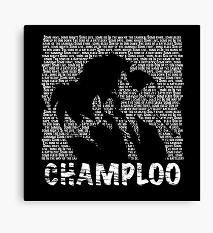 Samurai Champloo - BATTLECRY Canvas Print