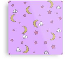 Sailor Moon inspired Bunny of the Moon Bedspread Blanket Print Metal Print