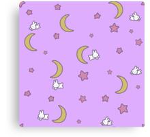 Sailor Moon inspired Bunny of the Moon Bedspread Blanket Print Canvas Print