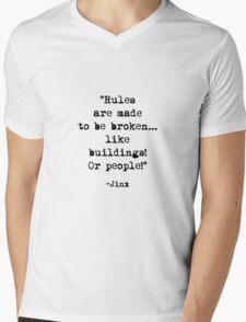 Jinx quote Mens V-Neck T-Shirt
